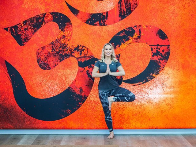 Trained yoga teacher Kristina has seven studios including one that is specially designed for hot yoga.