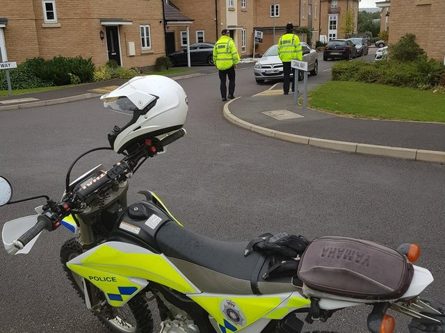 Police are increasing their presence in the Pineham Lock area. Photo: Northamptonshire Police