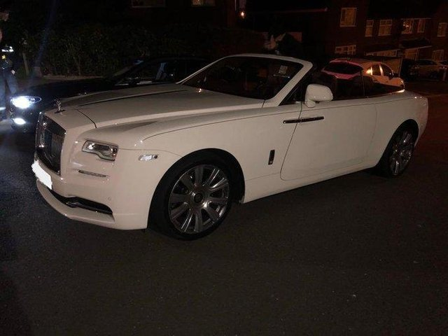 Police seized this white Rolls-Royce after finding the driver was not insured. Photo: CMPG