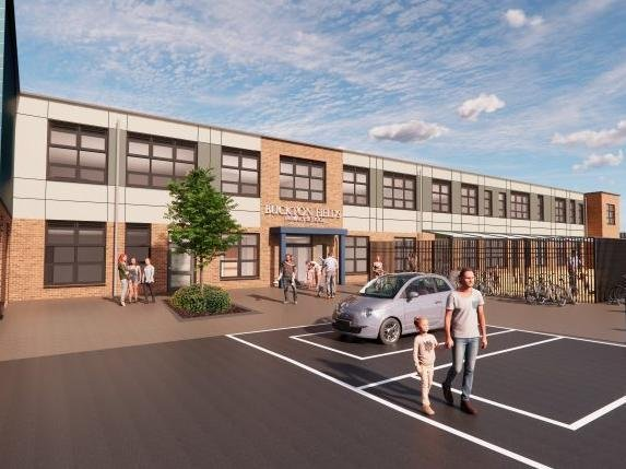 A 3D render of how Buckton Fields Primary School will look once its completed. Photo: Preston Hedge's Academy Trust