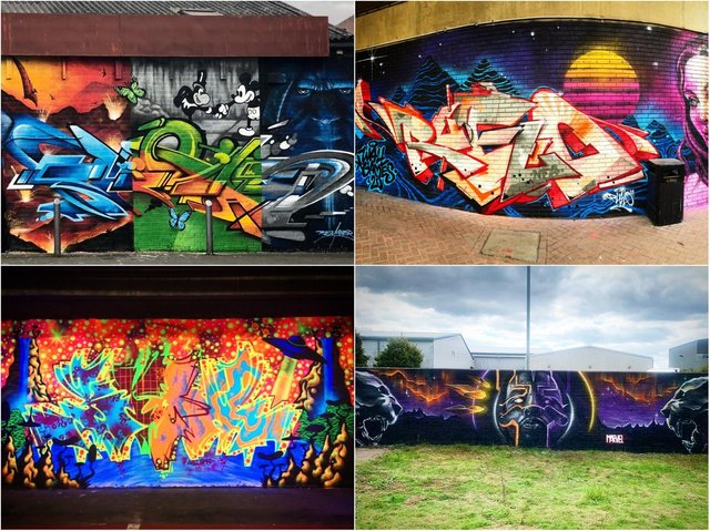 The street art has transformed some of the town's public spaces.