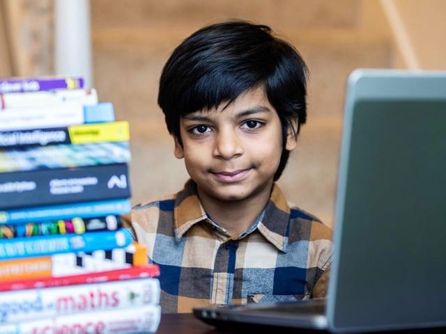 The world's youngest computer programmer is Northampton's own Kautilya Katariya, aged 7.