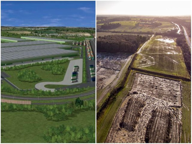 Construction has started on a 450-acre logistics park near Northampton.