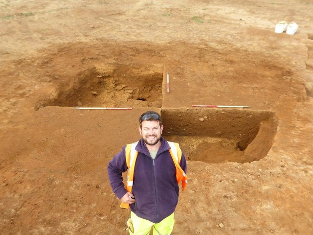 Archaeologists uncovered the site during pre-construction planning requirements.