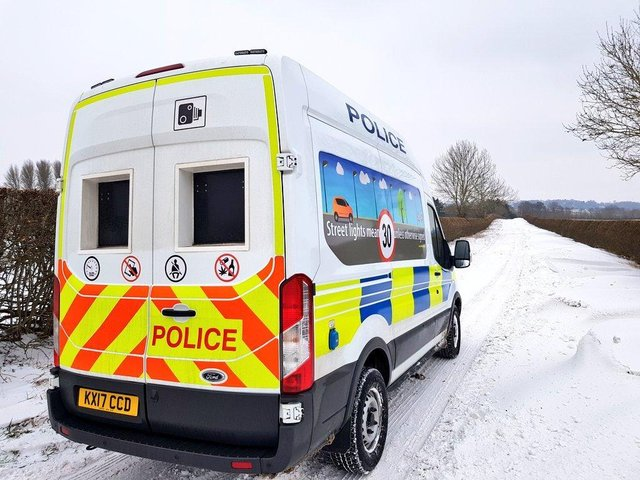 Drivers are urged to take care on the roads in the snow. Picture via Safer Roads Team @northants_SRT