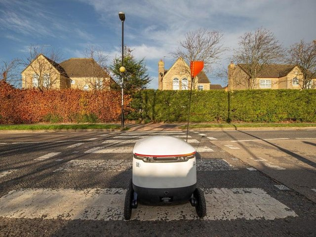 The delivery robot service will be coming to Upton and Barry Road
