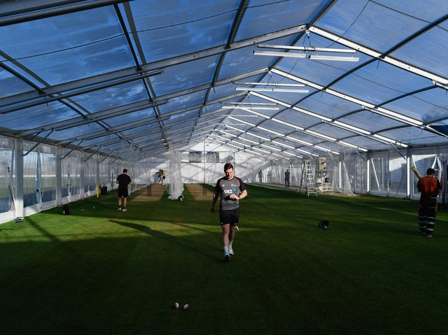 Northants decided against erecting a marquee for nets at the County Ground
