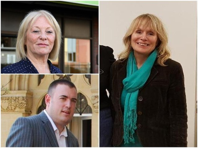 (Clockwise from top left) Northampton borough councillors Danielle Stone, Julie Davenport and Mike Hallam