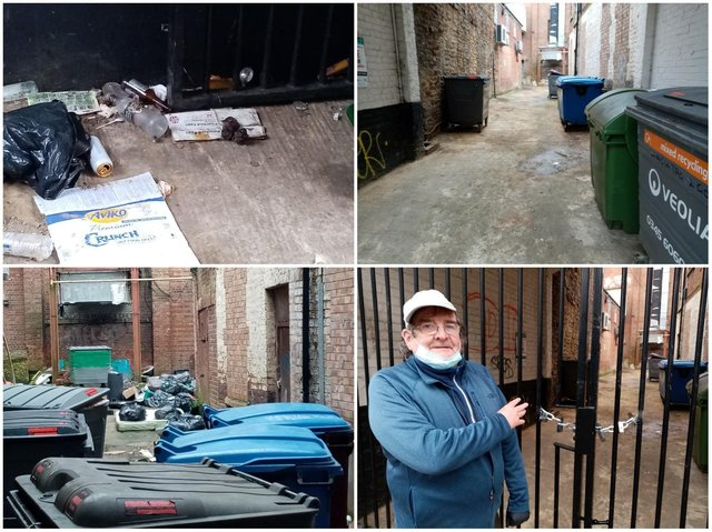 A filthy alleyway in Northampton town centre has finally been cleaned after months of unchecked flytipping.