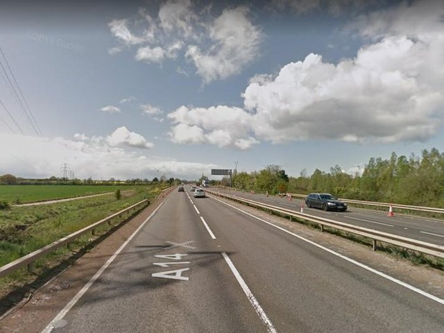 A high-value candleware theft took place near Junction 1 on the A14.