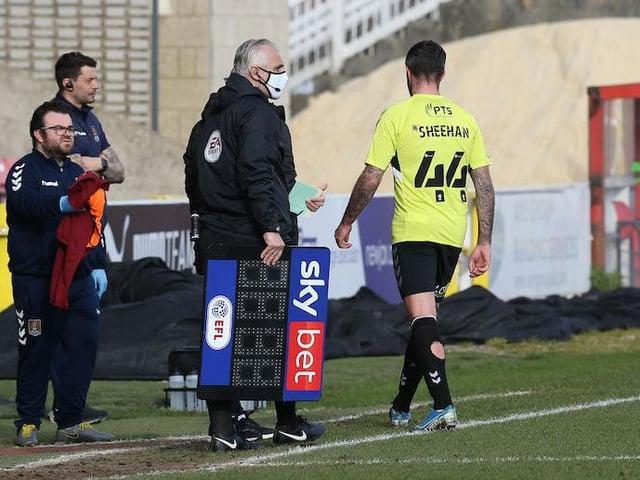 Alan Sheehan limped off at Swindon.