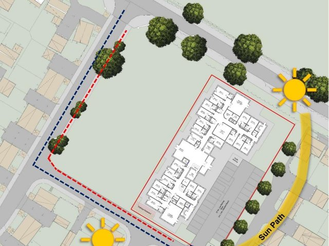 An illustration of how the care home could look