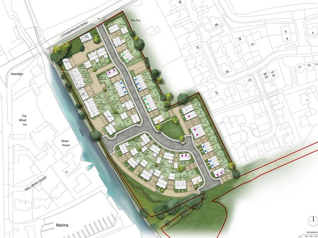 How the 52-home development on land to the south of The Wharf in Bugbrooke would have looked. Photo: Barwood Homes