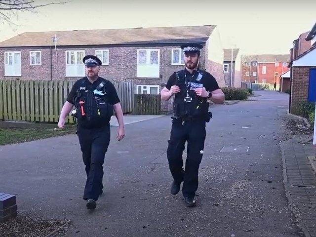 Oficers on the beat in Wellingborough for Operation Revive
