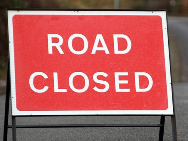 The A45 will be closed around Daventry for resurfacing work on the next two weekends