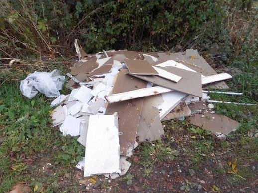 Pile of rubbish at Denford