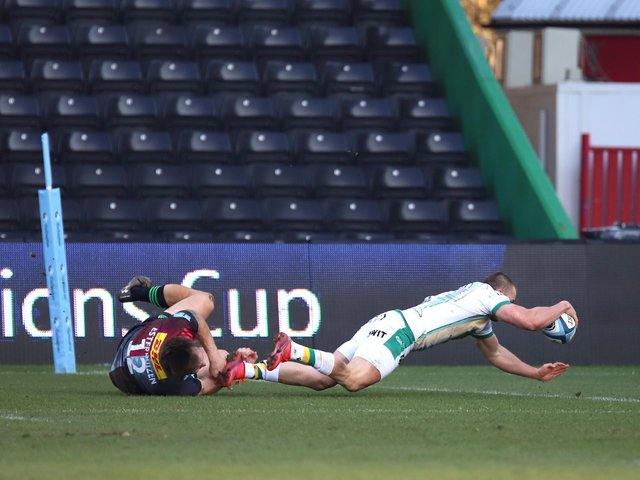 Ollie Sleightholme scored a stunning second-half try (picture: Peter Short)