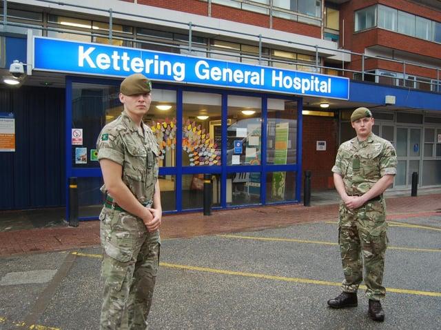 503 Army 2nd Lieut Ryan Francis and Pvte George Balkartat 1st Battalion Yorkshire Regiment.