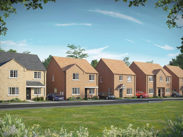 An artist's impression of what the homes will look like.