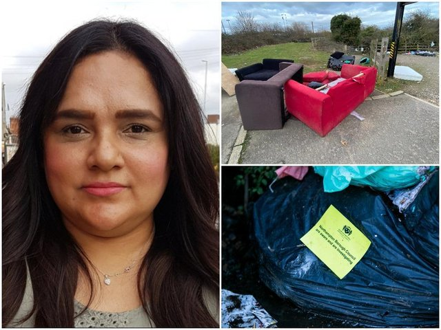 Labour borough councillor and deputy mayor, Rufia Ashraf, wants more to be done about fly-tipping in Northampton