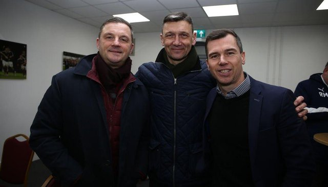 Ray Warburton and Ian Sampson are both helping out Jon Brady as part of his coaching stuff.