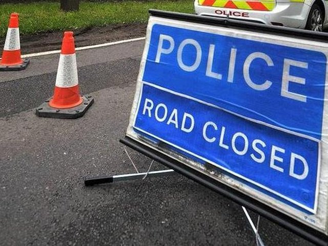 The A45 is closed eastbound on Friday afternoon