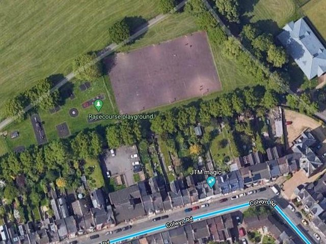 Homeowners in Colywn Road have raised concerns about the plans for the floodlights. Picture: Google Maps