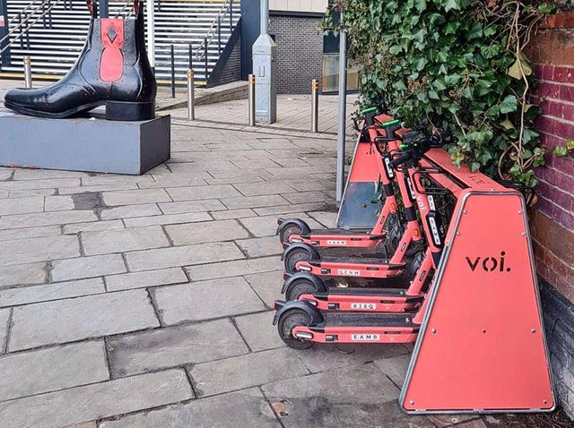 The parking racks are now in four locations around Northampton.