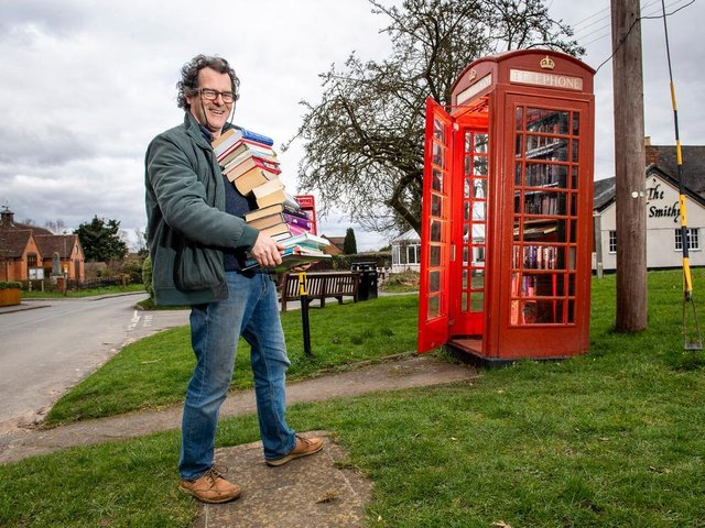 A book exchange is a popular re-use for old phone boxes. Photo: BT