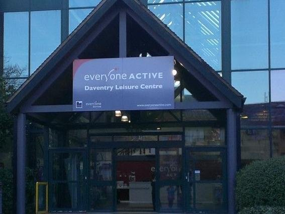 Daventry Leisure Centre is being used for testing key workers