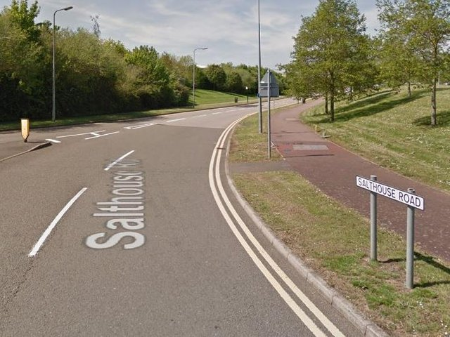 Salthouse Road in Brackmills was closed for nearly three hours following Friday's mornings incident