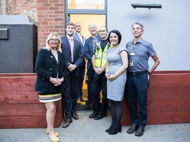 Representatives from Northamptonshire Police, The University of Northampton and Northampton Borough Council at the opening of the vulnerability centre in George Row on July 13, 2018.