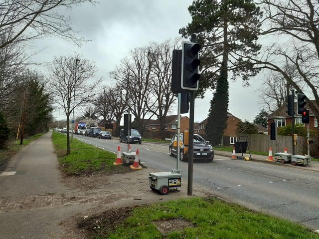 The traffic in Harlestone Road