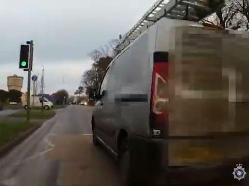 This driver sent his dashcam footage to the Operation Snap team after being cut up by a van overtaking on a pedestrian crossing