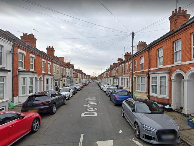 A mattress was set alight outside of a property in Derby Road, Abington.