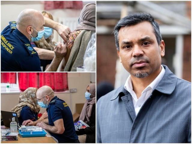 Pop-up coronavirus vaccination clinic at Northampton Mosque and Islamic Centre on Clare Street, Northampton