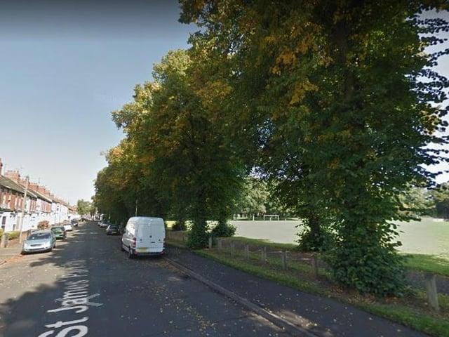 An air ambulance was seen landing in Victoria Park, Northampton.
