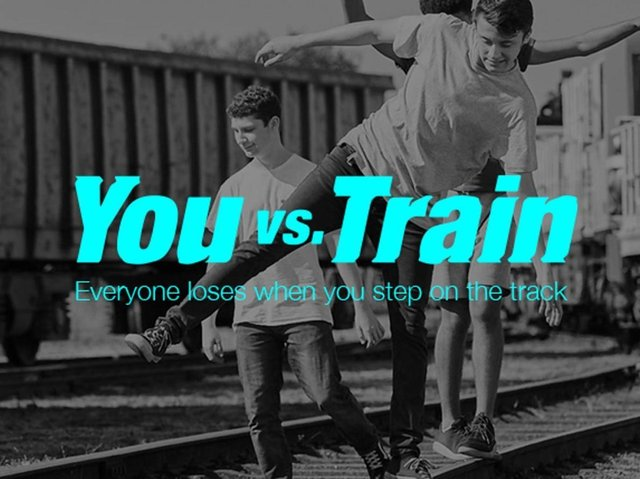 Network Rail's You vs Train campaign launched in 2018