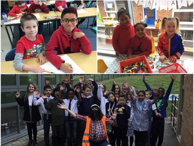Red Nose Day at Eastfield Academy (above) and The Arbours Primary Academy (below)
