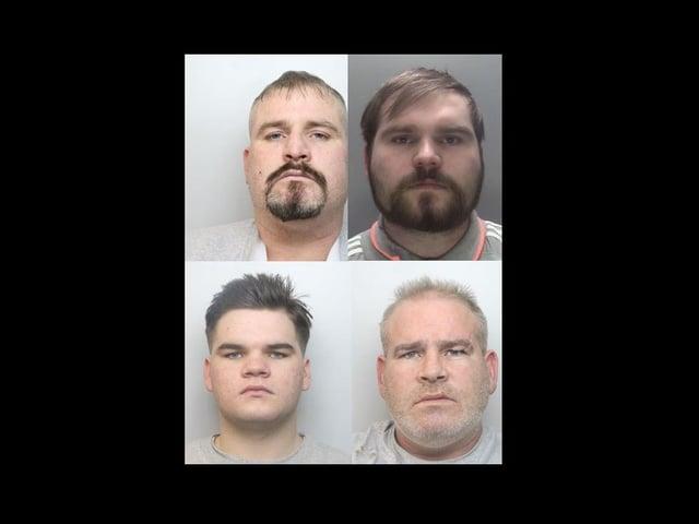 Clockwise from top left - Patrick, Charlie, Bernard, John.