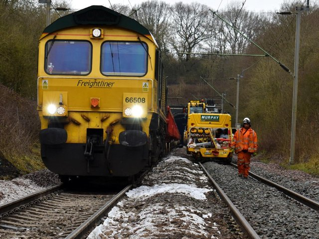 Engineers moved in for five days to refurbish Crick tunnel in Northamptonshire. Photo: Network Rail