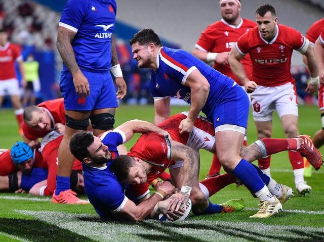 Dan Biggar scored for Wales against France last Saturday