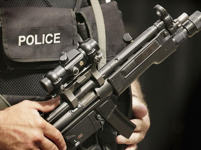 Armed officers were deployed in Finedon following Sunday night's incident. Photo: Getty Images