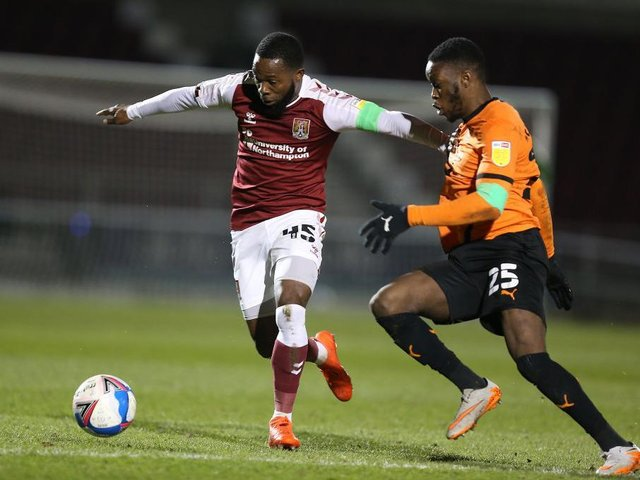 Mark Marshall on the attack for the Cobblers in their win over Oxford United (Picture: Pete Norton)