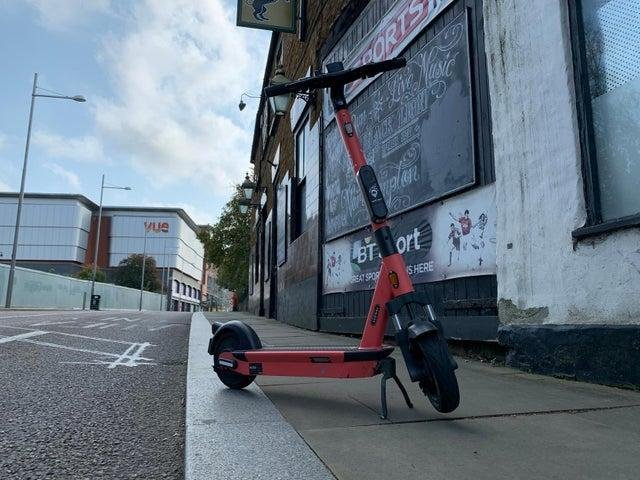 Campaigners are concerned about scooters being left on the pavement as they do not believe the parking racks do not discourage this behaviour enough.