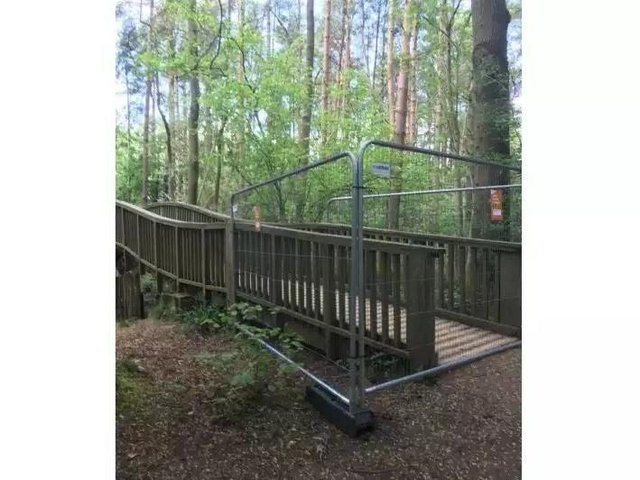 Salcey Forest's Treetop Walkway has been closed off to the public for nearly three years.