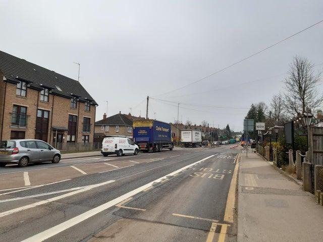 The bus lane in Weedon Road