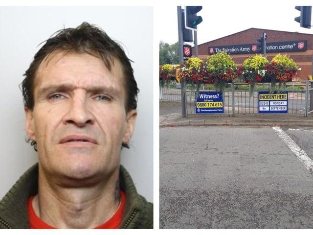 Ross Eaton and the scene of the crash. Credit: Northants Police/Northants Telegraph