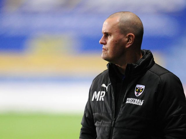 Mark Robinson was appointed Dons head coach last month.