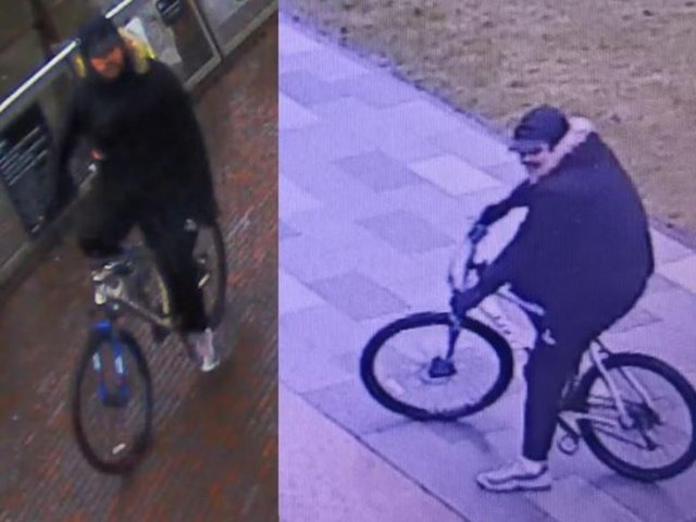 Police want to speak with this man in connection with the incident of sexual harassment.